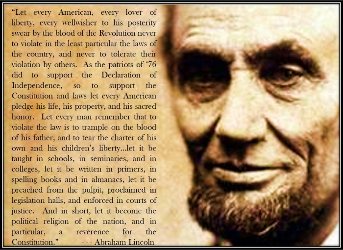 Lincoln on Study the Constitution